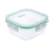 culinario Cloc Frischhaltedose aus Glas, 520 ml, quadratisch, Glas bis 400°C