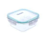 culinario Cloc Frischhaltedose aus Glas, 800 ml, quadratisch, Glas bis 400°C
