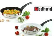 culinario Edelstahl Pfanne bauchig, Keramikbeschichtung
