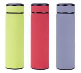 culinario Edelstahl Thermoflasche mit Tee-Einsatz, Edelstahl, 480 ml, Farbe wählbar