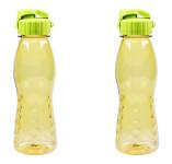 2 Stück culinario Freizeit Trinkflasche Flip Top, 700 ml, olivgrün