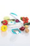 culinario Zwiebel-/ Gemüseschneider mit 2 Einsätzen, petrol