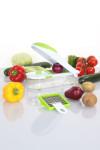 culinario Zwiebel-/ Gemüseschneider mit 2 Einsätzen, grün