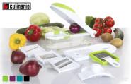 culinario Gemüseschneider und Zwiebelschneider, mit 6 Einsätzen, in verschiedenen Farben erhältlich