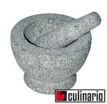 culinario Mörser mit Stößel aus Granit, Ø innen: 13 cm, 2,5 cm Wandstärke, Stößel 17,5 cm