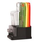 culinario Multi-Reibe mit 4 farbigen Schneide-Einsätzen, Fingerschutz und Auffangbehälter, in praktischer Aufbewahrungsbox