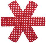 culinario 3er Set Pfannenschutz 38 x 38 cm, Stapelhilfe und Kratzschutz für Pfannen, rot