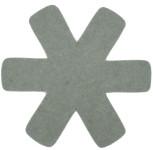 Steuber 3-tlg Pfannenschutz grün, 100% Polyester, beschichtungs-Schutz, schützt Pfannen vor dem Verkratzen, Kratzschutz