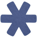 Steuber 3-tlg Pfannenschutz blau, 100% Polyester, beschichtungs-Schutz, schützt Pfannen vor dem Verkratzen, Kratzschutz