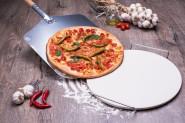 culinario 3 teiliges Pizzaset mit Pizzastein Ø33 cm und Pizzaschaufel 35 x 30,5 cm - Stiellänge 43 cm