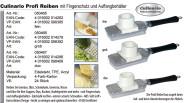 culinario Profi-Reibe, grob, mit Fingerschutz und Auffangbehälter