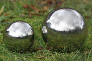 Dekokugel, Gartenkugel Galaxy in silber aus Edelstahl, 1 Stück, Ø ca. 13 cm