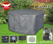 Deluxe Schutzhülle für runde Garten-Sitzgruppe, ca. 200 x 95 cm, aus Polyester, Gartenmöbel-Schutz