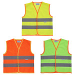 DRY KIDS Kinder Sicherheitsweste mit Klettverschluss, Farbe & Größe wählbar, Warnweste für gute Sichtbarkeit