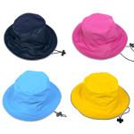 DRY KIDS PU Wasserdichter Kinder Regenhut, Farbe & Größe wählbar, verschweißte Nähte, reflektierende Regenkleidung, wasserdichte Kopfbedeckung