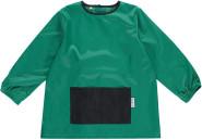 DryKids Malschürze für Kinder, wasserdichter Kittel mit Bauchtasche, Mal- und Bastelschürze für Kinder zwischen 1 und 3 Jahren, in grün/schwarz
