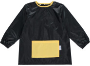 DryKids Malschürze für Kinder, wasserdichter Kittel mit Bauchtasche, Mal- und Bastelschürze für Kinder zwischen 1 und 3 Jahren, in schwarz/gelb