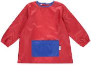 DryKids Malschürze für Kinder, wasserdichter Kittel mit Bauchtasche, Mal- und Bastelschürze für Kinder zwischen 4 und 6 Jahren, in rot/blau
