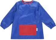 DryKids Malschürze für Kinder, wasserdichter Kittel mit Bauchtasche, Mal- und Bastelschürze für Kinder zwischen 1 und 3 Jahren,in blau/rot