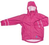 DryKids PU Wasserdichte Kinder Regenjacke für Kinder von 11 bis 12 Jahren, mit Bund/Taschen, ungefüttert, verschweißte Nähte, reflektierend, pink