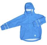 DryKids PU Wasserdichte Kinder Regenjacke für Kinder von 11 bis 12 Jahren, mit Bund/Taschen, ungefüttert, verschweißte Nähte, reflektierend, hellblau