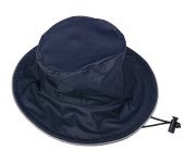 DryKids PU Wasserdichter Regenhut für Kinder von 5 bis 8 Jahren, verschweißte Nähte, reflektierende Regenkleidung, blau