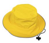DryKids PU Wasserdichter Regenhut für Kinder von 5 bis 8 Jahren, verschweißte Nähte, reflektierende Regenkleidung, gelb