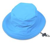DryKids PU Wasserdichter Regenhut für Kinder von 9 bis 12 Jahren, verschweißte Nähte, reflektierende Regenkleidung, türkis