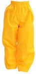 DryKids Wasserdichte Überhose für Kinder von 9 bis 10 Jahren, verschweißte Nähe, reflektierende Regenkleidung, gelb