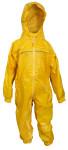 DryKids Wasserdichter Regenanzug für Kinder von 11 bis 12 Jahren, verschweiße Nähte, reflektierende Regenkleidung, gelb