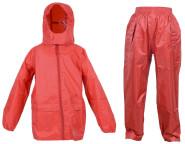 DryKids wasserdichtes 2er-Set Regenjacke und Regenhose, aus Polyester, mit reflektierenden Streifen