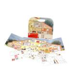 Egmont Toys Magnetspiel, Kinder-Magnetspiel, Spielwaren, Motiv: Haus mit 100 magnetischen Tafeln
