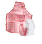 Egmont Toys Schürzen-Set, Kinderschürze, Kinder-Kochschürze, kariert, in rot-weiß