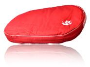 Elit-o-Pet Hundekissen mit Pfote, Hundebett, rot, Material: Synthetik, Breite: ca. 60cm