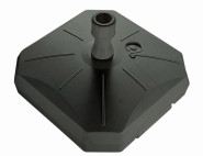 Enne Plastica Schirmständer 50 l, anthrazit, für Schirmstöcke von 30-55 mm, 60x60x20cm
