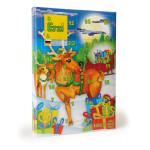 Erzi Adventskalender 31 Kaufmannsladen-Holzartikel hinter 24 Türen als Inhalt, stabiler Karton, Made in Germany