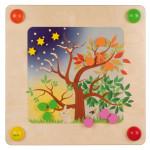 Erzi Babypfad Jahreszeiten, inkl. Montageset, aus Holz, Maße 57,5 x 57,5 x 9,5 cm