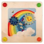 Erzi Babypfad Regenbogen, inkl. Montageset, aus Holz, Maße 57,5 x 57,5 x 9,5 cm