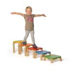 Erzi Balanciertreppe Courage, Holzspielzeug, Lernspielzeug für Motorik, Geschicklichkeit, Hand-Auge-Koordination