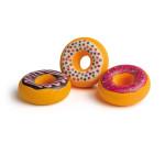 Erzi Doughnuts, Holz Spielzeug, Kaufladenzubehör, Spielzeug-Süßigkeiten, Spielzeug-Donuts, Süßigkeit aus Holz