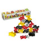 Erzi Fußballgeister, 18 Stapelgeister in schwarz, rot und gelb