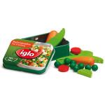 Erzi Gemüse von Iglo in der Dose, Spielzeug-Gemüse, Kaufladenzubehör