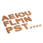 Erzi Holzbuchstaben 3D Zusatzset, 16 zusätzliche Buchstaben aus Buchenholz, ab 5 Jahren