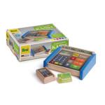 Erzi Kasse, Holz Spielzeug, Kaufladenzubehör, Spielzeug-Kasse für Spielgeld