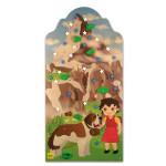 Erzi Kletterwand Bergwelt, Indoor-Kletterwand aus Holz, ab 3 Jahren
