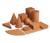 Erzi Lernspiel Geometrische Körper, Holzspielzeug, Lernspielzeug für Motorik, Geschicklichkeit, Formen, Holz Bausteine, Bauklötze