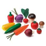 Erzi Logopädiesortierung Gemüse, Therapiematerial a. Buchenholz, Marken Holz Spielzeug, Theraphiematerial bei Lautbildungsstörung, Maße 15 x 5 x 13 cm