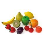 Erzi Logopädiesortierung Obst, Therapiematerial aus Buchenholz, Marken Holz Spielzeug, Theraphiematerial bei Lautbildungsstörung, Maße 14 x 4 x 13 cm