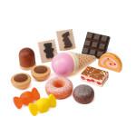 Erzi Logopädiesortierung Süßes, Therapiematerial aus Buchenholz, Marken Holz Spielzeug, Theraphiematerial bei Lautbildungsstörung, Maße 16 x 5 x 13 cm