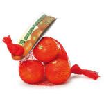 Erzi Mandarinen im Netz, Holzmandarinen, Kaufladenmandarinen, aus Holz, Maße 7,5 x 6,4 x 4,2 cm, orange
